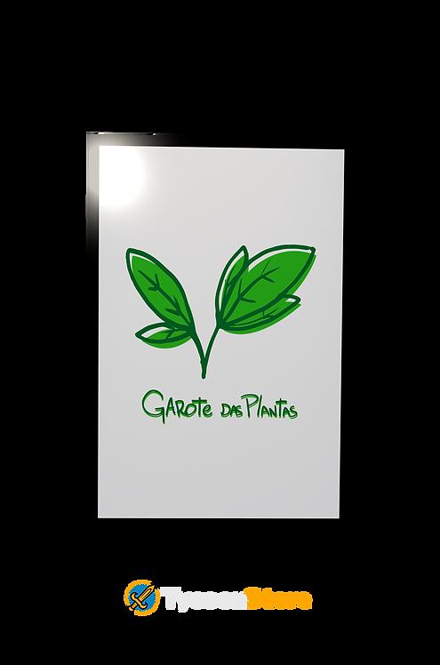 Placa Decorativa - Garota das Plantas