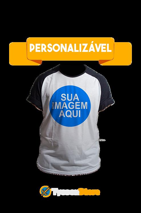 Camiseta Raglan - Sua Imagem Personalizado