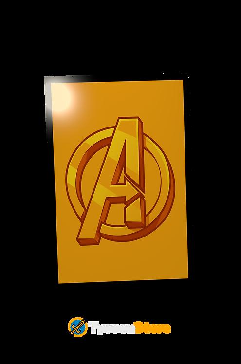 Placa Decorativa - Avengers Vingadores Marvel