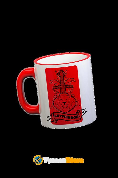 Caneca Vermelha - Brasão Casa Grifinória Gryffindor V3