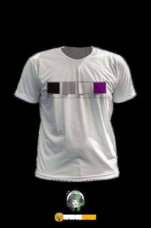 Camiseta - Bandeira Assexual Pantone