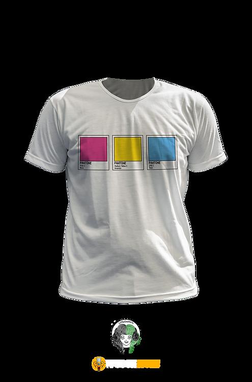 Camiseta - Bandeira Pansexual Pantone