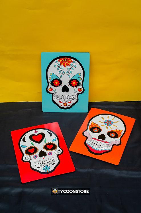 Kit Placas Decorativas - Caveiras Mexicanas