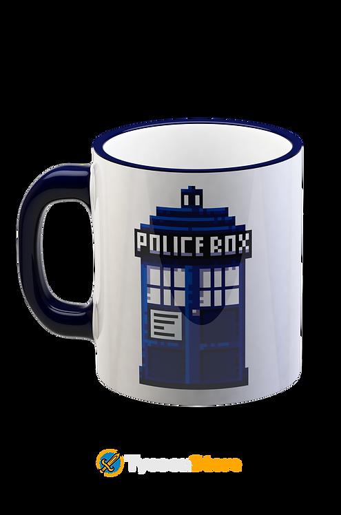 Caneca - Tardis Pixel Doctor Who Série