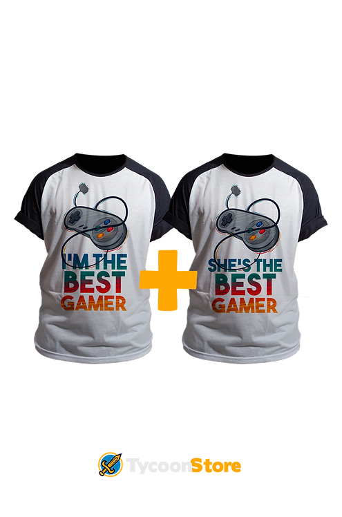 KIT Camisetas - The Best Gamer