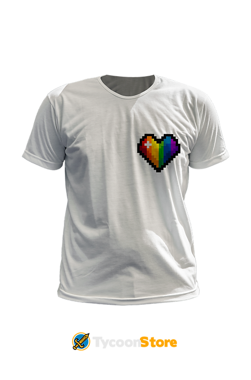 Camiseta - Gay (LGBT Pixel Art Coração)