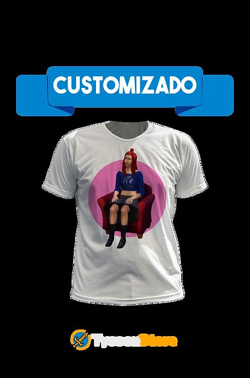 Camiseta Branca - The Sims PERSONALIZADO