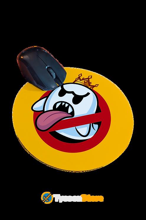 Mousepad Redondo - Caça Boo (Caça Fantasmas e Mario Bros)