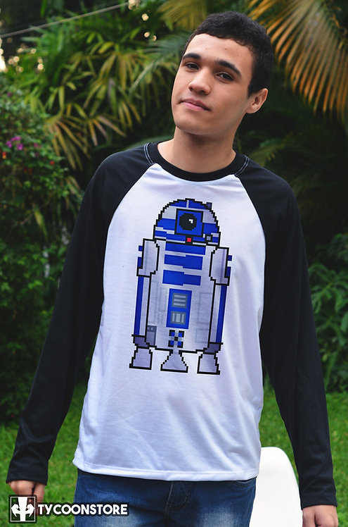 Camiseta Manga Comprida  - R2D2 Star Wars