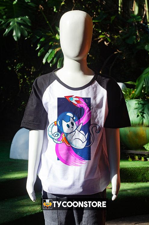 Camiseta Infantil - Gato Astronauta