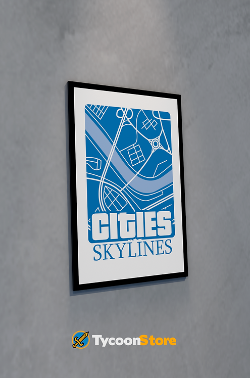 Placa Decorativa - Cities Skylines Jogo