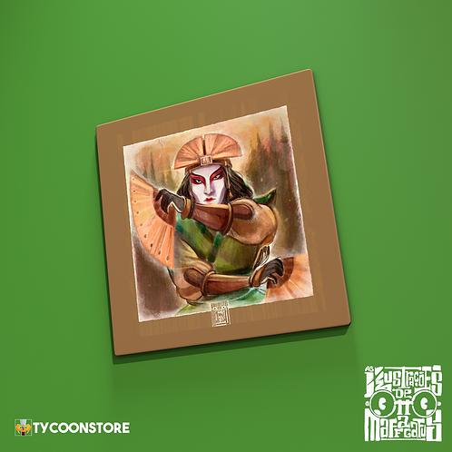Placa Decorativa - Avatar Kyoshi (Avatar A Lenda de Aang)
