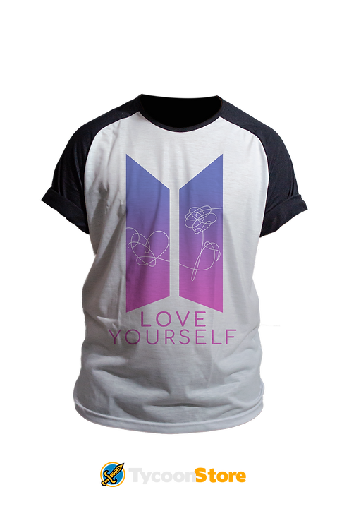 Camiseta Manga Preta - BTS Love Yourself (K-POP)
