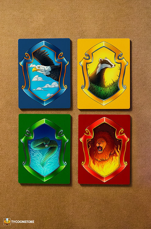KIT Placas Decorativas - Casas de Hogwarts