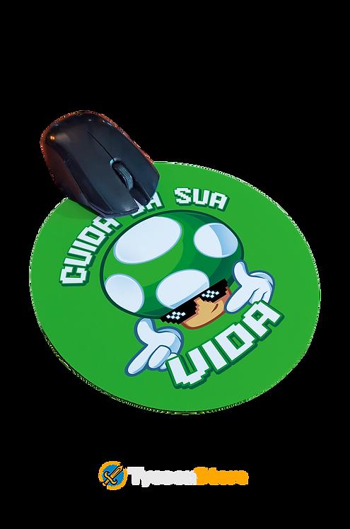 Mousepad - Cuida da sua vida (Jogo Mario Bros)