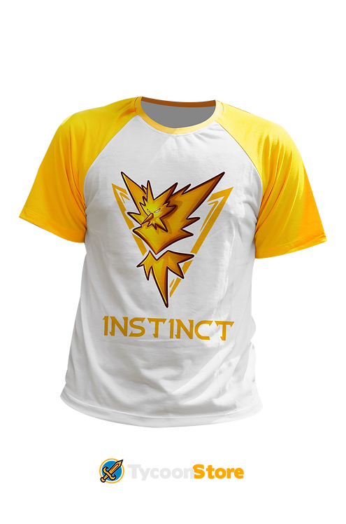 Camiseta Manga Colorida - Team Instinct