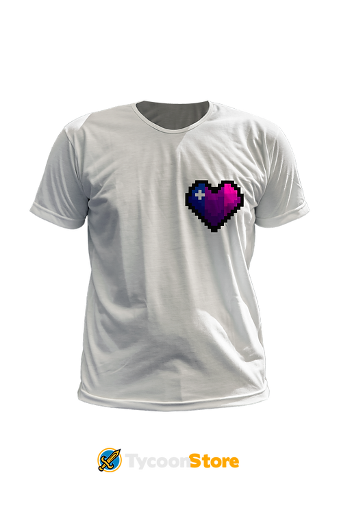 Camiseta - Bissexual (LGBT Pixel Art Coração)
