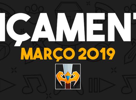 MARÇO 2019 (LANÇAMENTOS)