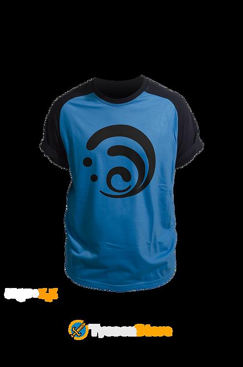 Camiseta Colorida - Hydro (Genshin Impact)