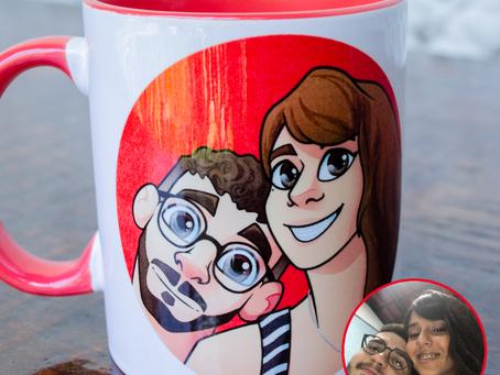 Caneca para casal personalizada!