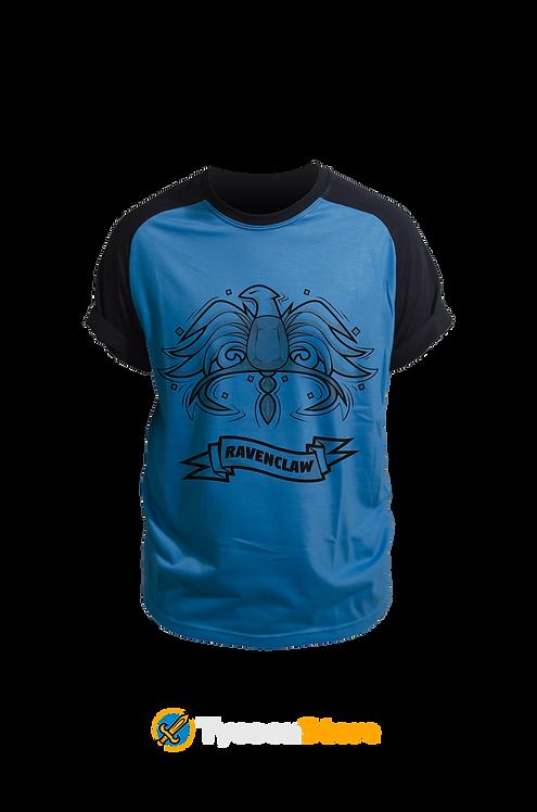Camiseta Colorida - Brasão Casa Corvinal V3