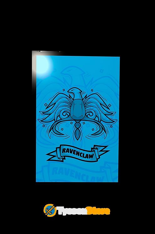 Placa Decorativa - Brasão Casa Corvinal V3