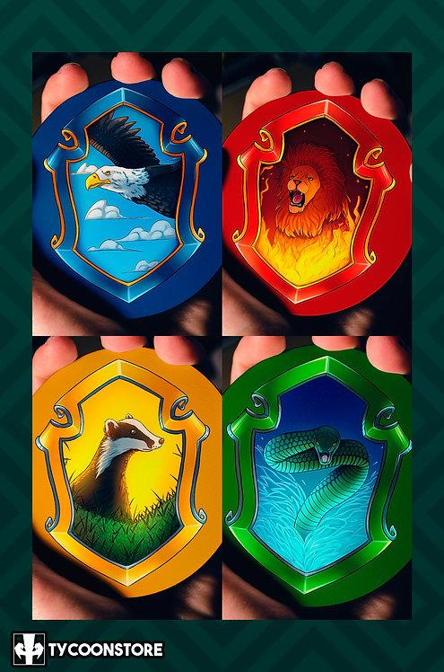 KIT - Porta Copos - Casas de Hogwarts