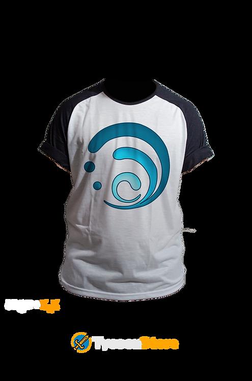 Camiseta Manga Preta - Hydro (Genshin Impact)