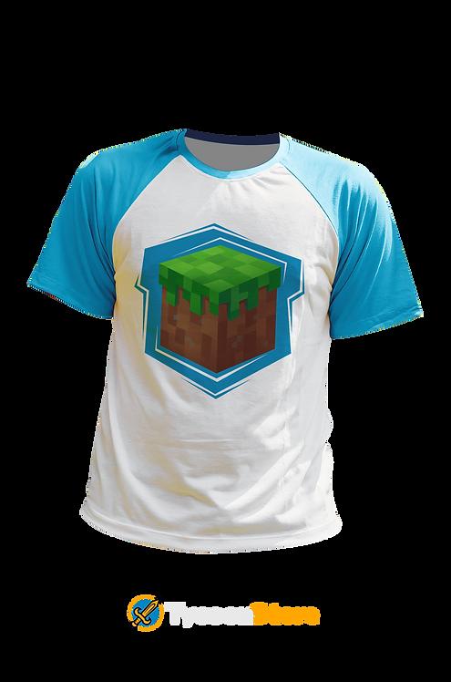 Camiseta Manga Ciano - Minecraft