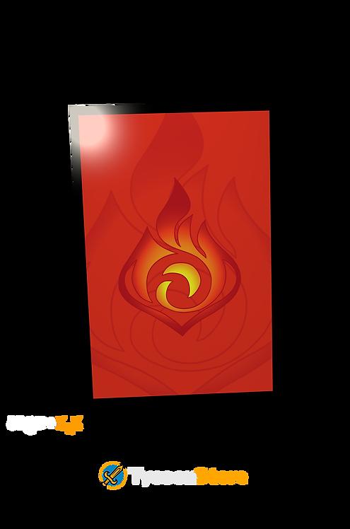 Placa Decorativa - Pyro (Genshin Impact)
