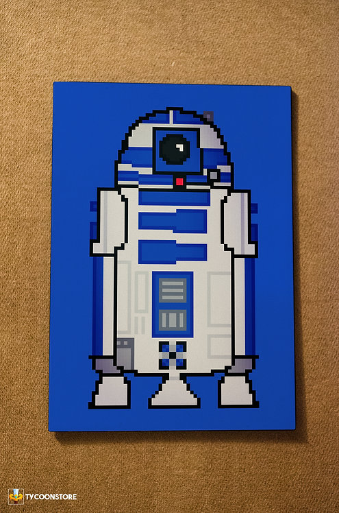 Placa Decorativa - R2D2 Star Wars
