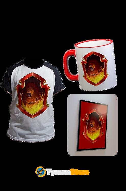KIT - Bruxo Grifinória (Camiseta, Caneca e Quadro)
