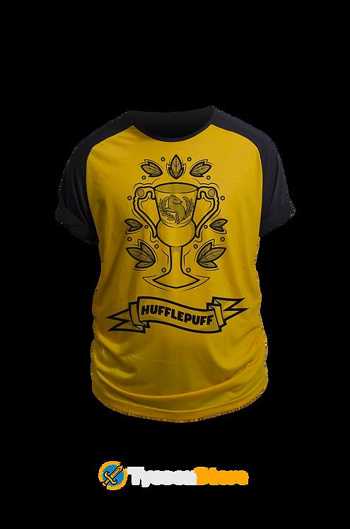Camiseta Amarela - Brasão Casa Lufa Lufa Hufflepuff V3