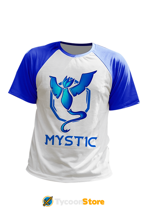 Camiseta Manga Azul - Team Mystic