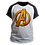 Thumbnail: Camiseta Manga Preta - Avengers Vingadores Marvel