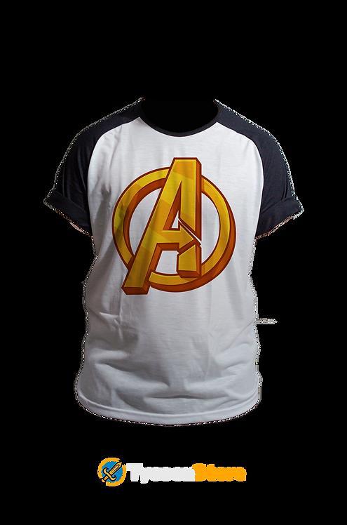 Camiseta Manga Preta - Avengers Vingadores Marvel