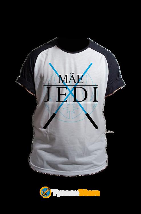 Camiseta Manga Preta - Mãe Jedi (Star Wars)