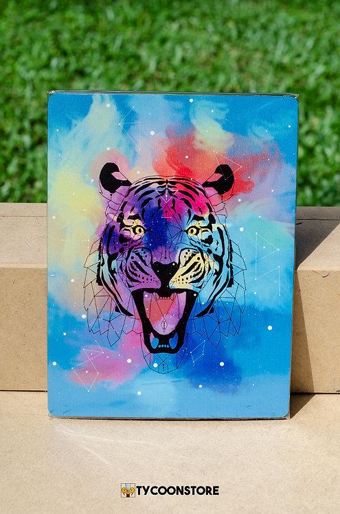 Placa Decorativa - Tigre Geométrico