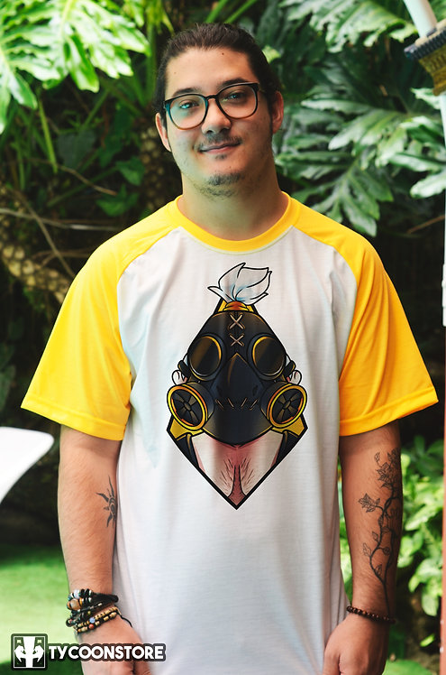 Camiseta Manga Colorida - Roadhog