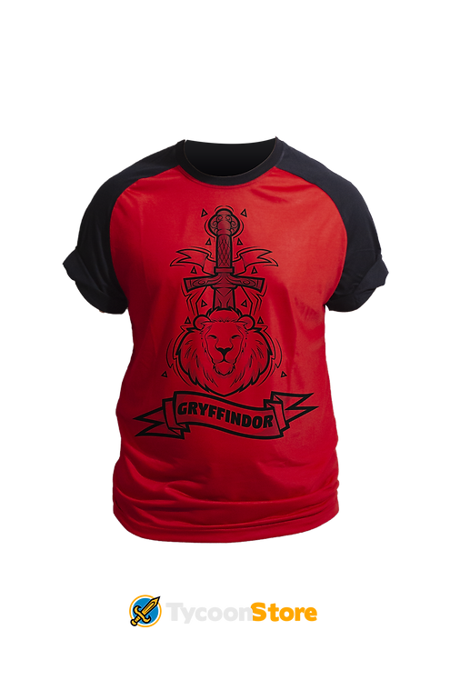 Camiseta Vermelha - Brasão Casa Grifinória Gryffindor V3