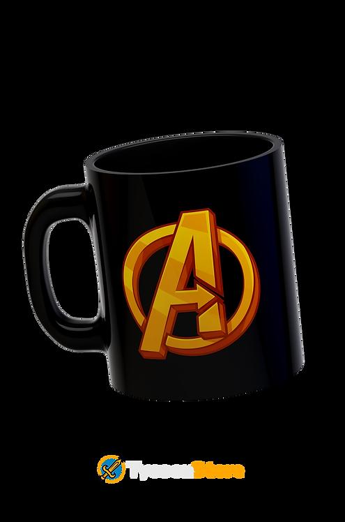 Caneca Preta - Avengers Vingadores Marvel