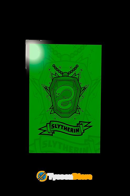 Placa Decorativa - Brasão Casa Sonserina Slytherin V3