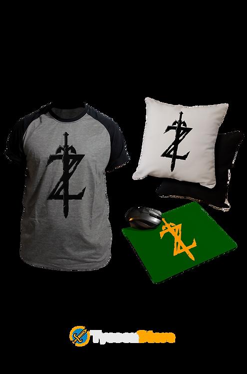 KIT - The Legend of Zelda / Camiseta + Almofada + Mousepad