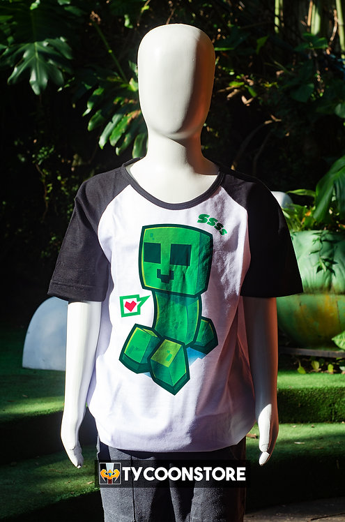 Camiseta Infantil - Creeper Minecraft
