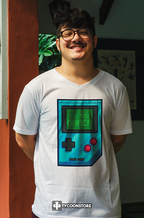Camiseta Branca - Eu sou gamer!