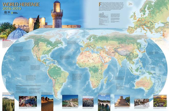 Карта объектов Всемирного наследия 2018-2019