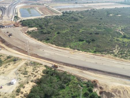 120,000 טון של חומר גלם ממוחזר לבנייה (מצע ב') יושמו בבניית מחלף אשדוד החדש!