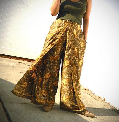 Batik Open-Front Pants