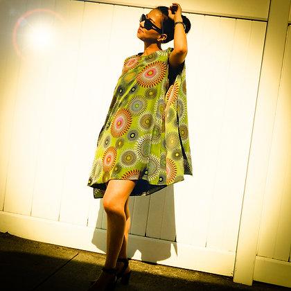 Wing Sleeve Mini Dress