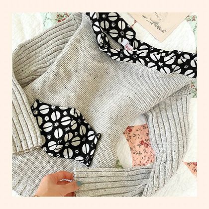 Off-Shoulder Sweater with a Face Mask